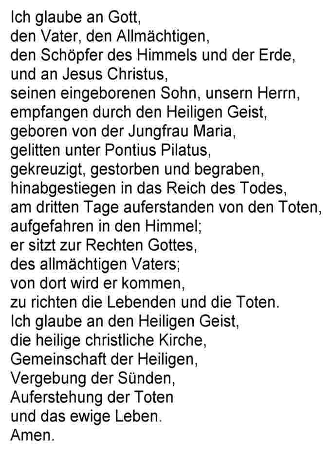 Christliches Glaubensbekenntnis